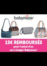 Promos et remises Autour de bébé : 15 € remboursé pour l'achat d'un sac à langer Babymoov