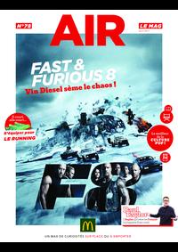 Journaux et magazines McDonald's - REDON : Air le Mag du mois de Avril 2017