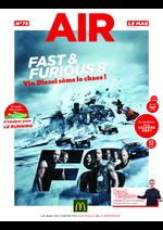 Journaux et magazines Mc Donald's : Air le Mag du mois de Avril 2017