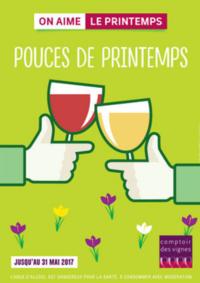 Prospectus Comptoir des vignes PARIS 17IEME : Pouces de Printemps