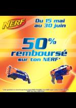 Promos et remises  : 50% remboursé sur une sélection de produits Nerf