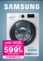 Promos et remises  : 150€ d'économie sur le lave-linge Samsung WW 90 K 6414 QW
