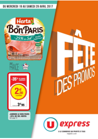 Prospectus U Express PARIS - R. PETITS CARREAUX : Fête des promos