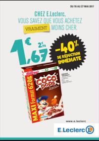Prospectus E.Leclerc FRANCONVILLE : Chez E.Leclerc vous savez que vous achetez moins cher !