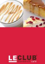 Menus  : Feuilletez la carte Gourmandises
