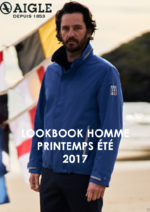 Catalogues et collections Aigle : Lookbook homme printemps été 2017