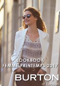 Catalogues et collections Burton SAINT GERMAIN EN LAYE : Lookbook femme printemps 2017
