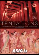 Catalogues et collections Asia : Tentations - Toute l'Asie en circuits 2017-2018