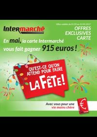 Prospectus Intermarché Bois-de-Villers : En mai, la carte Intermarché vous fait gagner 915 euros !
