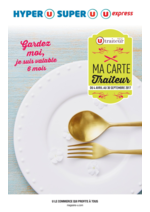 Menus Super U : Ma carte traiteur