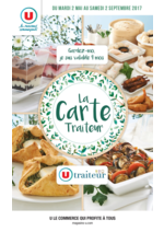 Menus Super U : La carte traiteur