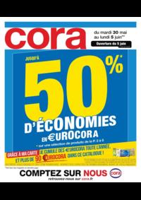 Prospectus Cora LIVRY-GARGAN : Jusqu'à 50% d'économies en €urocora