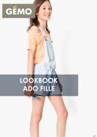 Catalogues et collections Gemo MONTESSON : Lookbook ado fille