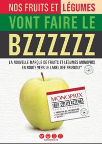 Journaux et magazines Monoprix PARIS 71 rue Saint Antoine : Nos fruits et légumes vont faire le BZZZZZZ