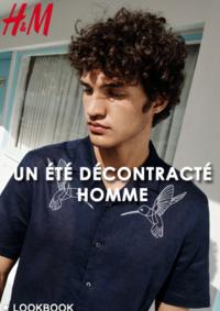 Catalogues et collections H&M Paris 120 rue de Rivoli : Lookbook homme Un été décontracté