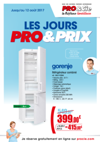 Prospectus Pro&Cie Ermont : Les jours Pro & Prix