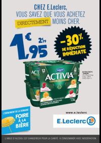 Prospectus E.Leclerc RIVERY LES AMIENS : Chez E.Leclerc, vous savez que achetez directement moins cher