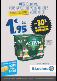 Prospectus E.Leclerc PANTIN : Chez E.Leclerc, vous savez que achetez directement moins cher