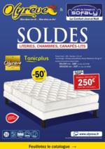 Prospectus Olyrêve : SOLDES : Matelas, Sommiers, Canapés-Lits de qualité