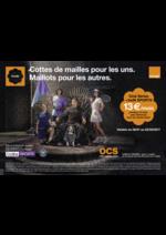 Prospectus Orange : Cottes de mailles pour les uns. Maillots pour les autres