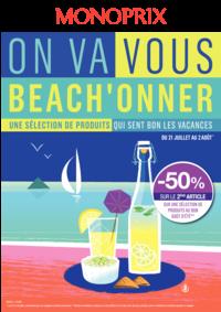 Prospectus Monoprix PARIS 71 rue Saint Antoine : On va vous beach'onner