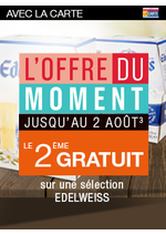 Promos et remises Monoprix : Le 2ème gratuit sur une sélection Edelweiss
