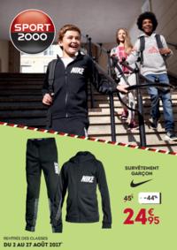 Catalogues et collections Sport 2000 PARIS : Rentrée des classes