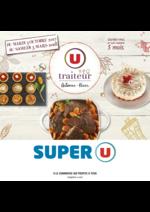 Menus Super U : La carte traiteur Automne Hiver