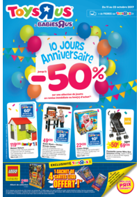 Prospectus Toys R Us STRASBOURG : 10 anniversaire jusqu'à -50%
