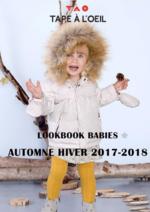 Catalogues et collections Tape à l'oeil : Lookbook babies automne hiver 2017-2018