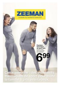 Prospectus Zeeman Paris 13 Masséna : Cette semaine : des vêtements thermiques de sport pour la famille