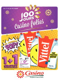 Prospectus Supermarchés Casino PARIS 352 RUE LECOURBE : Les 100 jours Casino folies V