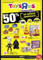 Prospectus Toys R Us : Jusqu'à -50% de remise immédiate