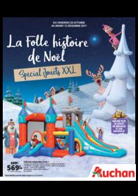 Prospectus Auchan Val d'Europe Marne-la-Vallée : La folle histoire de Noël. Spécial jouets XXL