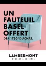 Prospectus  : Un fauteuil Basel offert dès 1750€ d'achat