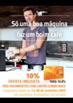 Promoções e descontos Jumbo : Máquinas de Café 10% Oferta Imediata Cartão Jumbo