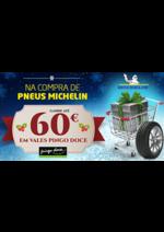 Promoções e descontos Euromaster : 60€ em vales Pingo Doce na compra de Pneus Michelin