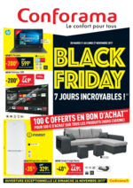 Prospectus Conforama : Black friday 7 jours incroyables !