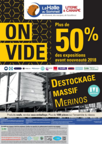 Prospectus La Halle au Canapé BONNEUIL SUR MARNE : On vide plus de 50% des expositions avant nouveauté 2018