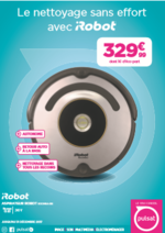 Promos et remises  : Aspirateur iRobot seulement à 329€