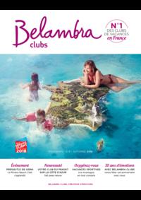 Catalogues et collections Belambra Clubs : Brochure printemps-été-automne 2018