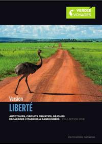 Catalogues et collections Verdié Voyages Tarbes : Brochure Version Liberté