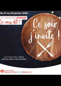 Prospectus Auchan Val d'Europe Marne-la-Vallée : Ce soir j'invite !