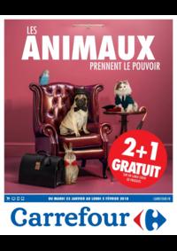 Prospectus Carrefour BESANCON Zone Commerciale Est : Les animaux prennent le pouvoir
