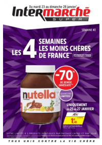 Prospectus Intermarché Super Bondy : Les 4 semaines les moins chères de France. Semaine 2