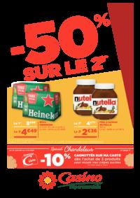 Prospectus Supermarchés Casino DEUIL LA BARRE : -50% sur le 2ème