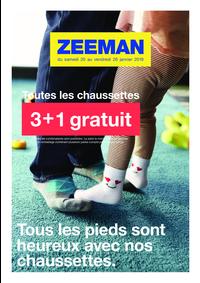 Prospectus Zeeman Ixelles : 3+1 gratuit sur les chaussettes