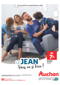 Prospectus Auchan PUTEAUX : Le jean vous va si bien !