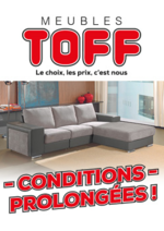 Prospectus Meubles Toff : Conditions prolongées !