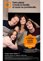 Prospectus  : Faire plaisir à toute la famille et aussi au portefeuille